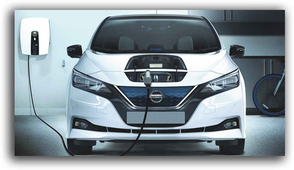 Nissan Leaf being charged